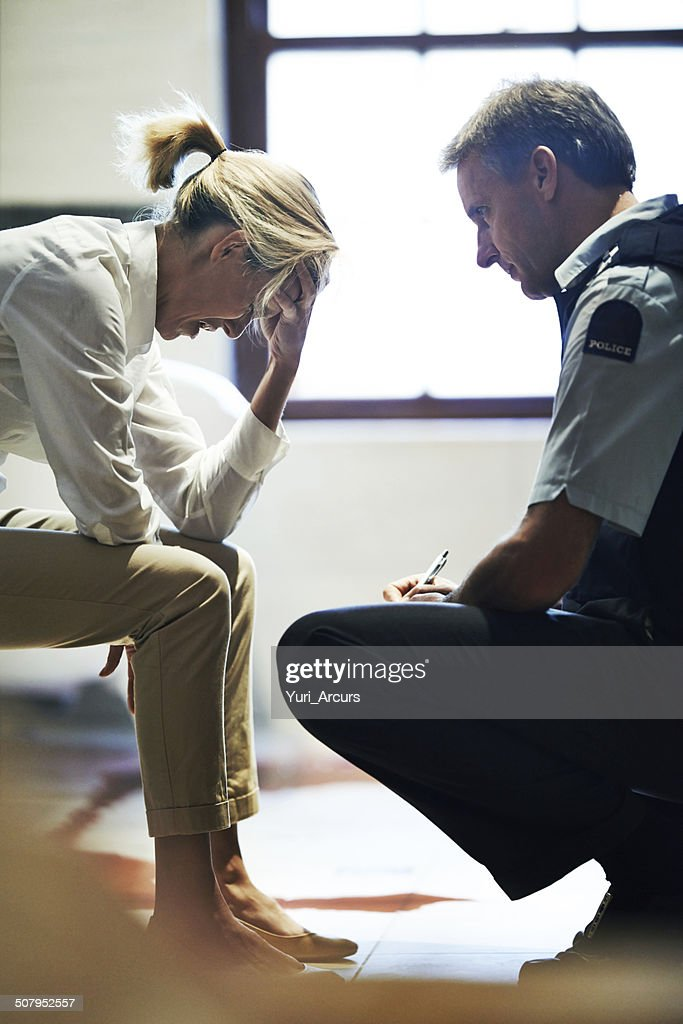 Homicide is a tragic business : Stock Photo