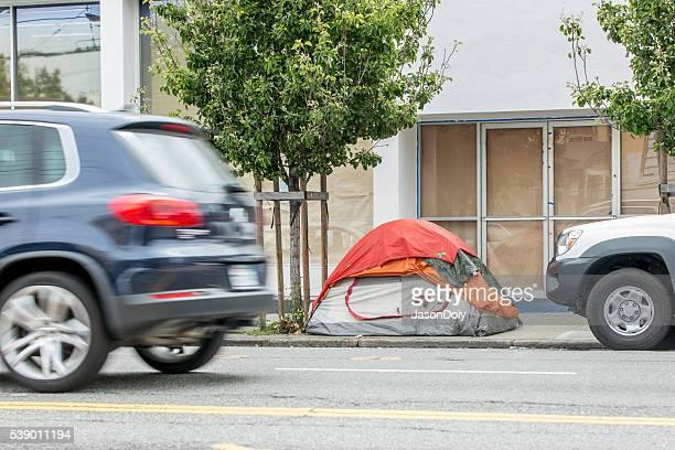 Homless Encampment on South Van Ness Street in San Francisco