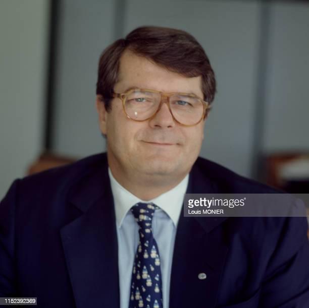 Homme d'affaires français Olivier Bouygues à Paris en octobre 1995, France.