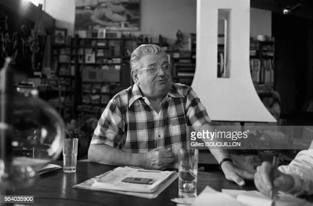 Homme d'affaires Jean-Baptiste Doumeng dit 'le Milliardaire Rouge' à Noé en aout 1980, France.