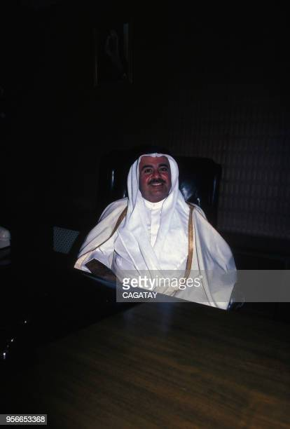 Homme d'affaires saoudien Adnan Khashoggi à Riyad en avril 1979, Arabie saoudite.