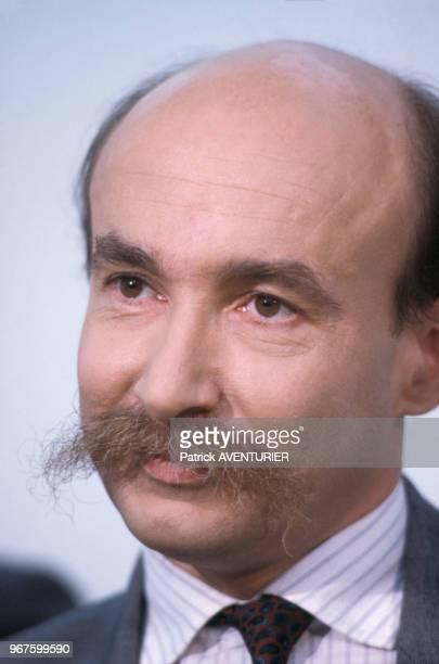 Homme politique Claude Malhuret le 18 décembre 1986 à Paris, France.