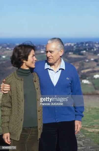 L'homme politique français Jacques ChabanDelmas avec son épouse Micheline Chavelet en 1986