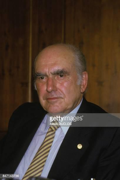 L'homme politique grec Andreas Papandreou le 2 juin 1985 en Grece