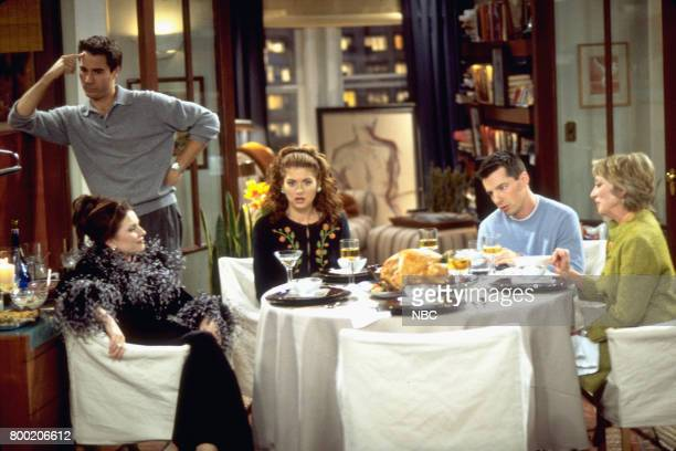 WILL GRACE 'Homo for the Holiday' Episode 7 Pictured Megan Mullally as Karen Walker Eric McCormack as Will Truman Debra Messing as Grace Adler Sean...