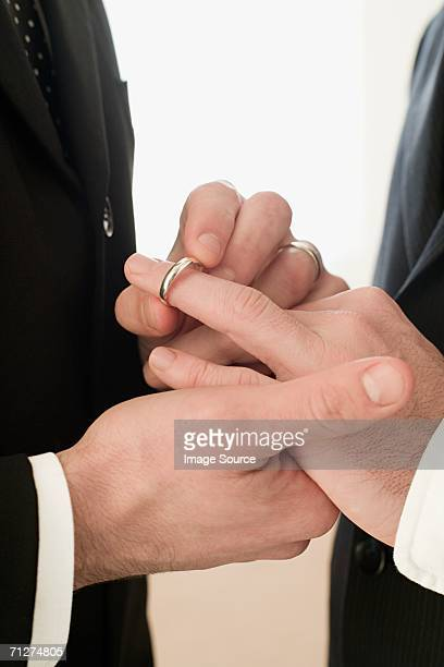 Homosexual couple wedding ceremony