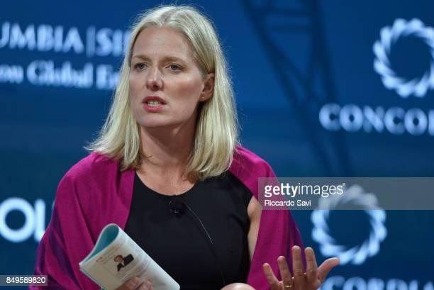 Hon Catherine McKenna Canadian Minister of Environment and Climate Change speaks at The 2017 Concordia Annual Summit at Grand Hyatt New York on...