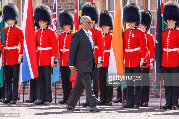 Hon Dr Barnabas Sibusiso Dlamini of Swaziland arrives to the Executive Session of the Commonwealth Heads of Government in London, England, April 19,...