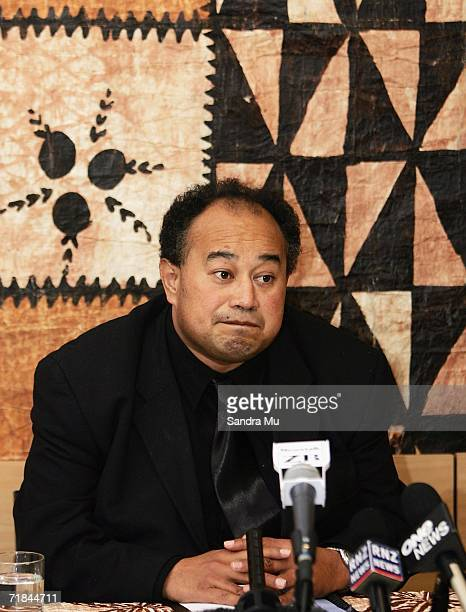 Hon. Fielakepa, Lord Chamberlain of the Tongan Royal Household addresses the media with the arrangements of the State funeral for King Taufa'ahau...