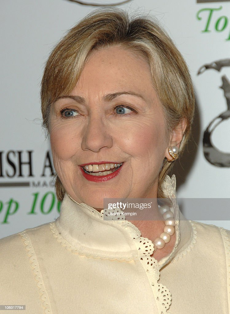 Hon Hillary Clinton During Irish American Magazine Top 100 Awards Ceremony At The