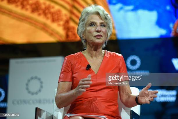 Hon Jane Harman Director President and CEO Wilson Center speaks at The 2017 Concordia Annual Summit at Grand Hyatt New York on September 19 2017 in...