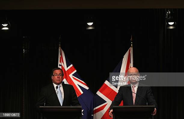 Hon Murray McCully New Zealand Minister of Foreign Affairs and Rt Hon William Hague Secretary of State for Foreign and Commonwealth Affairs United...
