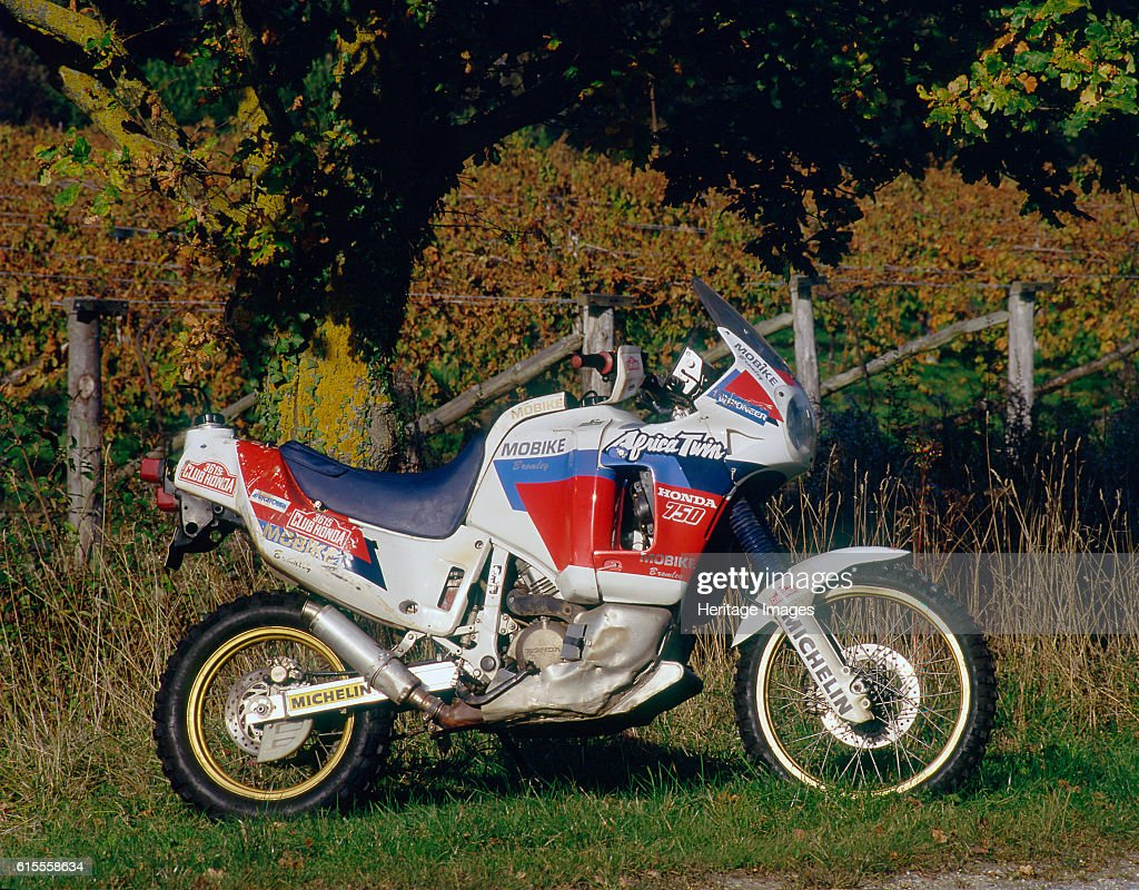 1991 Honda 750 Africa Twin : News Photo