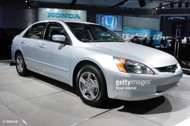 Honda Accord Hybrid is displayed January 10 2005 at the North American International Auto Show in Detroit Michigan