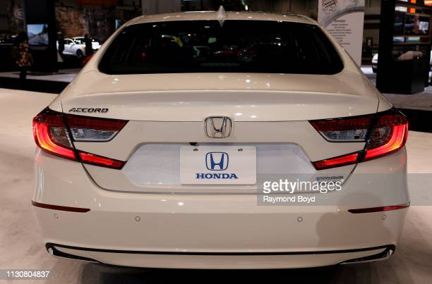 Honda Accord Hybrid is on display at the 111th Annual Chicago Auto Show at McCormick Place in Chicago Illinois on February 8 2019