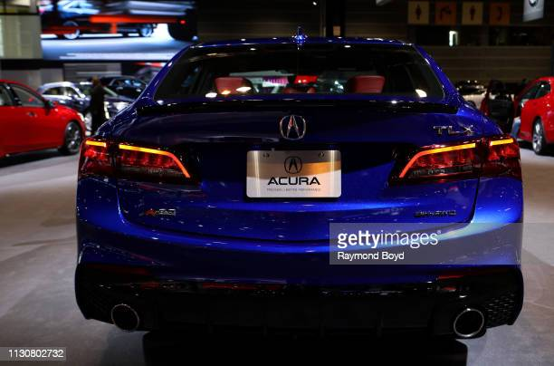 Honda Acura TLX is on display at the 111th Annual Chicago Auto Show at McCormick Place in Chicago, Illinois on February 8, 2019.
