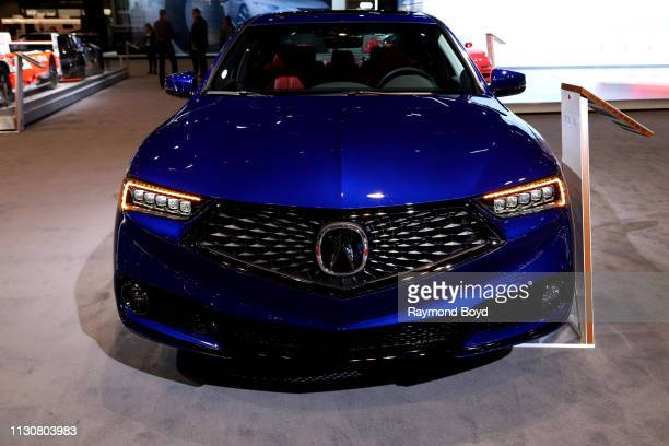 Honda Acura TLX is on display at the 111th Annual Chicago Auto Show at McCormick Place in Chicago Illinois on February 8 2019