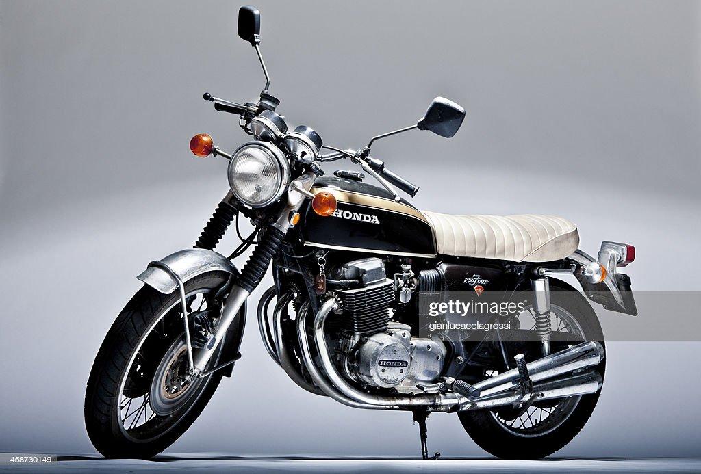 Honda Cb 750 Four Vintage Motorcycle In Studio Shoot Stock