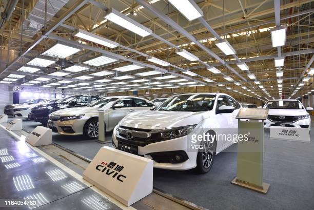 Honda Civic car is seen at Dongfeng Honda's third factory on April 12, 2019 in Wuhan, Hubei Province of China.
