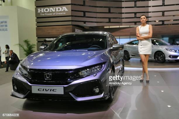 Honda Civic is being displayed during the Istanbul Autoshow 2017 at the TUYAP Fair and Convention Center in Istanbul, Turkey on April 20, 2017.