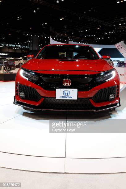 Honda Civic is on display at the 110th Annual Chicago Auto Show at McCormick Place in Chicago, Illinois on February 8, 2018.