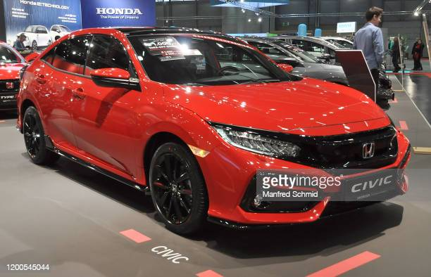 Honda Civic is seen during the Vienna Car Show press preview at Messe Wien, as part of Vienna Holiday Fair, on January 15, 2020 in Vienna, Austria....