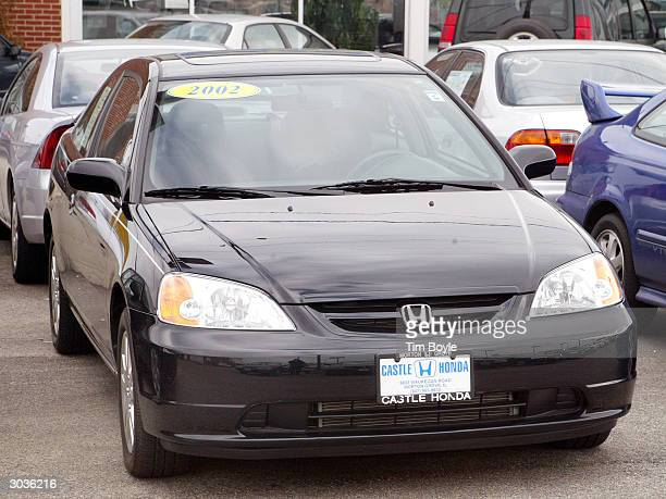 Honda Civic is seen for sale at Castle Honda March 2, 2004 in Morton Grove, Illinois. Honda is recalling approximately 440,000 Civic and Insight...