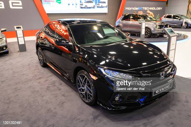 Honda Civic on display at Brussels Expo on January 9, 2020 in Brussels, Belgium.
