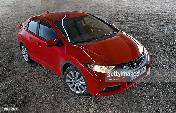honda civic on the parking - honda civic stock pictures, royalty-free photos & images