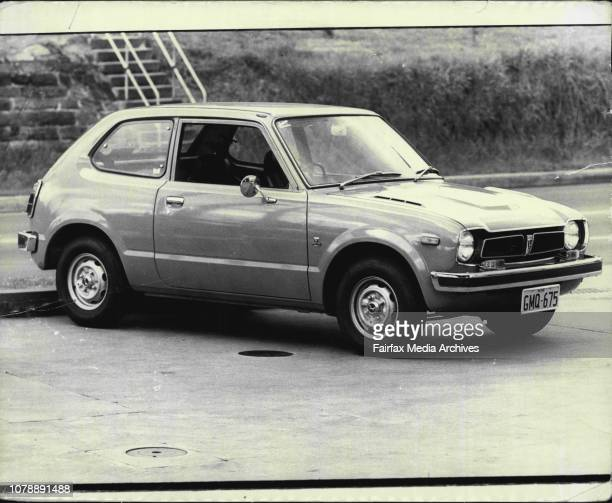Honda Civic road test car. September 24, 1973. .