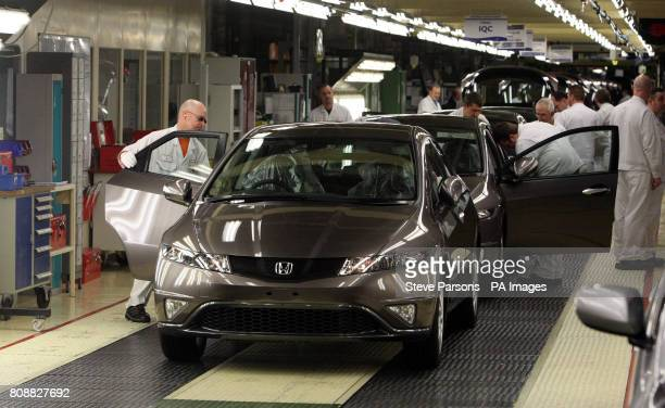 A Honda Civic rolls off the production line at their plant in Swindon
