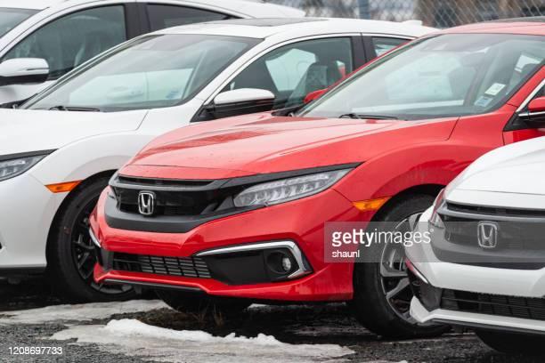 2020 honda civic sedan - honda civic stock pictures, royalty-free photos & images