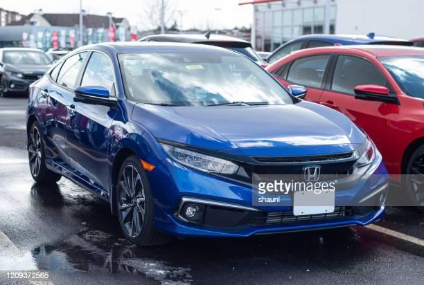 2020 honda civic sedan - sedan stock pictures, royalty-free photos & images