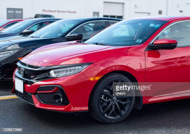 2020 honda civic si coupe - honda civic stock pictures, royalty-free photos & images
