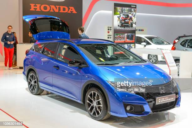 Honda Civic Tourer 5door station wagon on display at Brussels Expo on January 13 2017 in Brussels Belgium The Honda Civic of the ninth generations is...