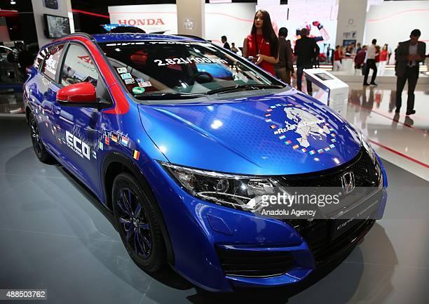 Honda Civic Tourer Active Life Concept automobile is on display at the IAA Frankfurt International Motor Show at Trade fair grounds in Frankfurt...