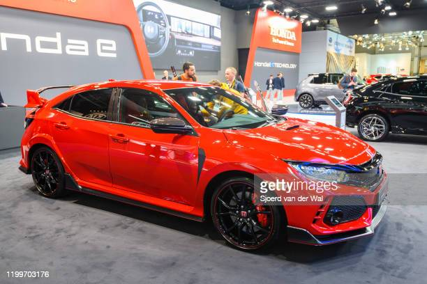 Honda Civic Type-R on display at Brussels Expo on January 9, 2020 in Brussels, Belgium.