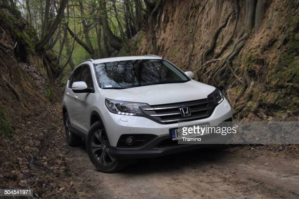 honda cr-v at the test drive - honda stock pictures, royalty-free photos & images