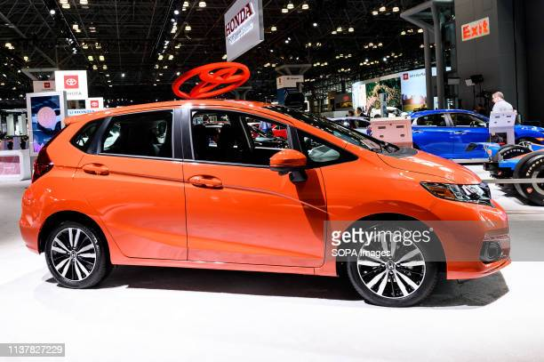 Honda Fit seen at the New York International Auto Show at the Jacob K. Javits Convention Center in New York.