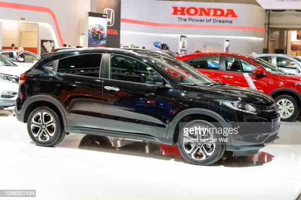 Honda HRV compact SUV on display at Brussels Expo on January 13 2017 in Brussels Belgium The second generation HRV is available with 15 and 18 litre...