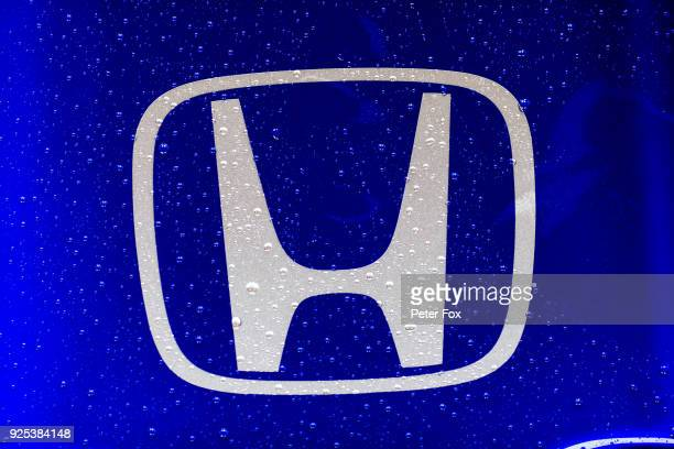 Honda logo on the Scuderia Toro Rosso STR13 during day three of F1 Winter Testing at Circuit de Catalunya on February 28 2018 in Montmelo Spain