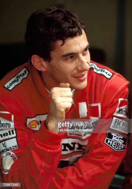 Honda Marlboro McLaren driver Ayrton Senna of Brazil after winning the Monaco Grand Prix in Monte Carlo on 7th May 1989