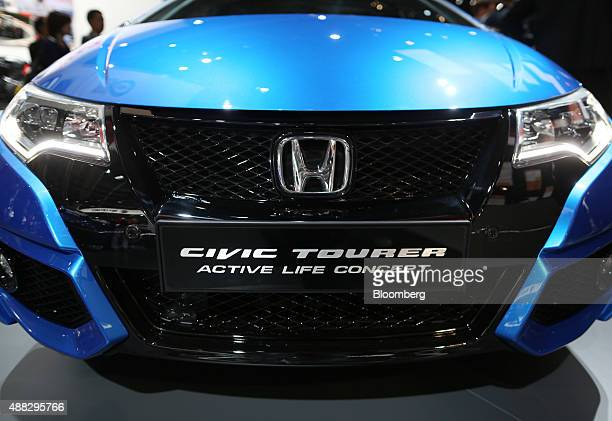 A Honda Motor Co Civic Tourer Active Life Concept automobile stands on the company's stand at the IAA Frankfurt Motor Show in Frankfurt Germany on...