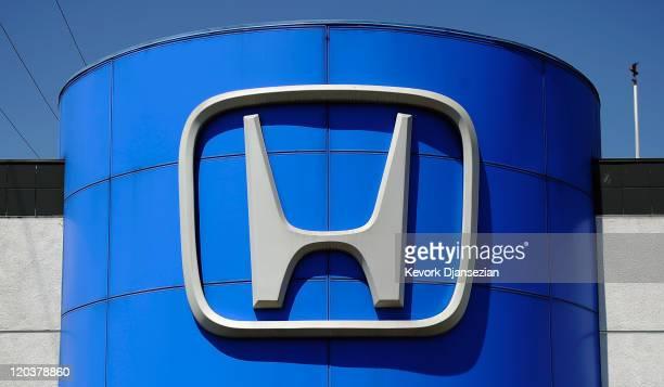 Honda Motor Co emblem is seen at the Honda of Hollywood dealership on August 5 2011 in Los Angeles California Honda Motor Co is recalling 25 million...