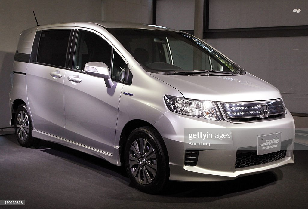 A Honda Motor Co Freed Spike Hybrid Minivan Is Displayed During An Unveiling In Tokyo