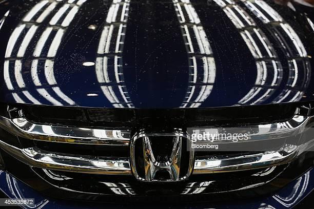 A Honda Motor Co Odyssey minivan rolls down the assembly line on the assembly line at Honda Manufacturing of Alabama LLC facility in Lincoln Alabama...