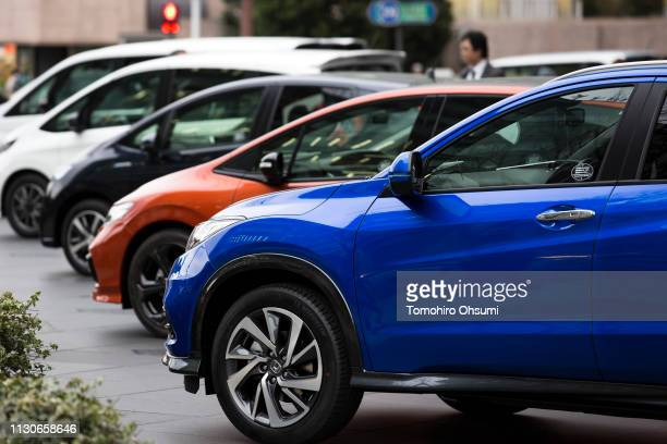 Honda Motor Co vehicles are displayed outside the company's headquarters on February 19 2019 in Tokyo Japan Honda announced on Tuesday the company...