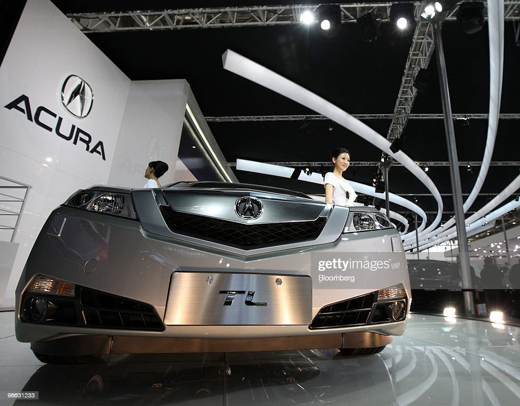 Honda Motor Co.'s Acura TL vehicle is displayed at the Beijing Auto Show in Beijing, China, on Friday, April 23, 2010. The show will be held through April 27. Photographer: Tomohiro Ohsumi/Bloomberg via Getty Images