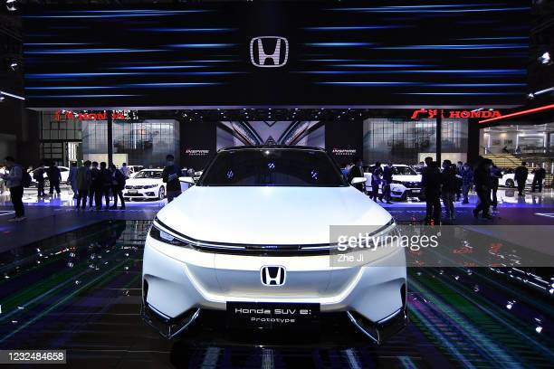 Honda Motor SUV e prototype electric vehicle is displayed during the 19th Shanghai International Automobile Industry Exhibition, also known as Auto...