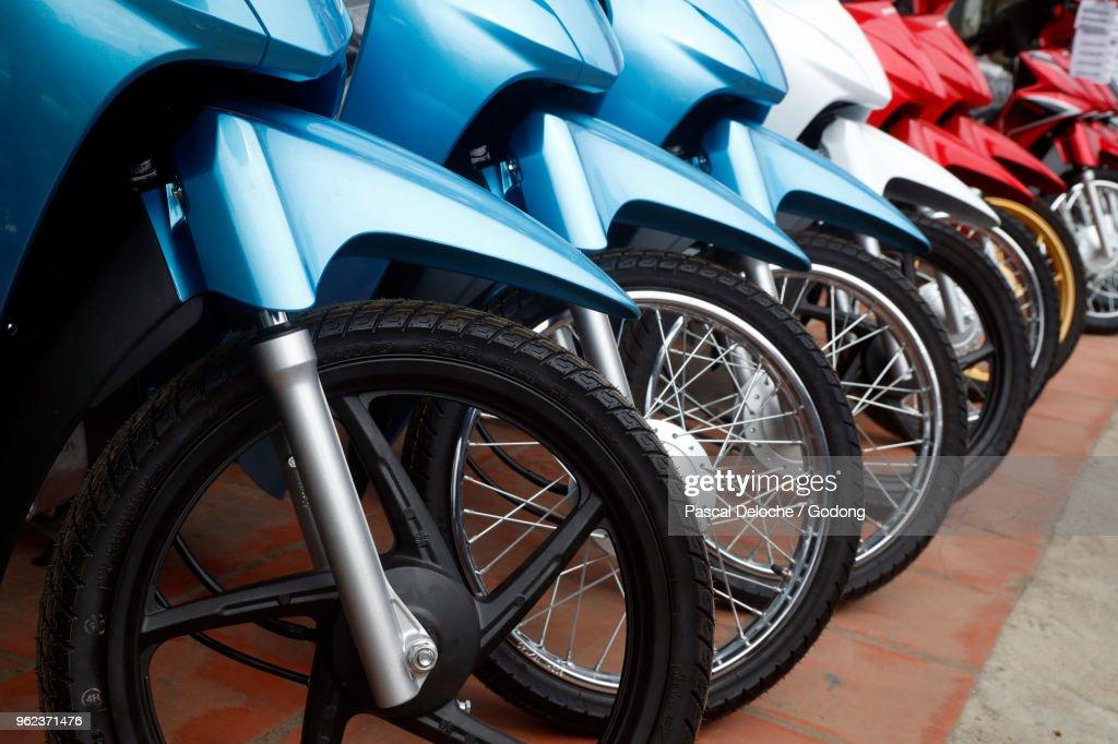 Honda Motorcycle Dealer. Bac Son. Vietnam. : Stock Photo